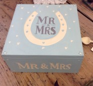 East of India Mr & Mrs Large Wooden Box